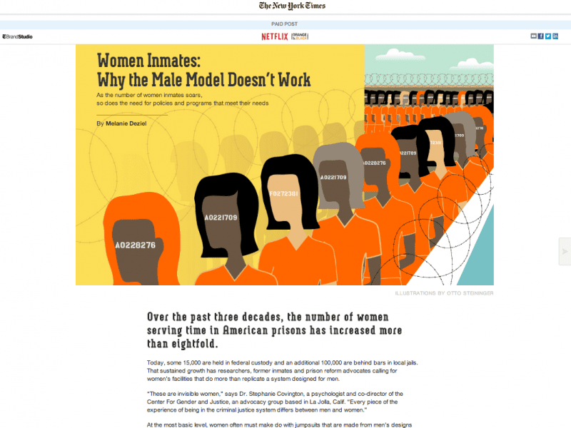 The revered Netflix/OITNB Advertorial in The New York Times