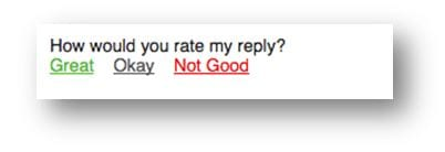 Tuft & Needle Email Signature Customer Service Survey