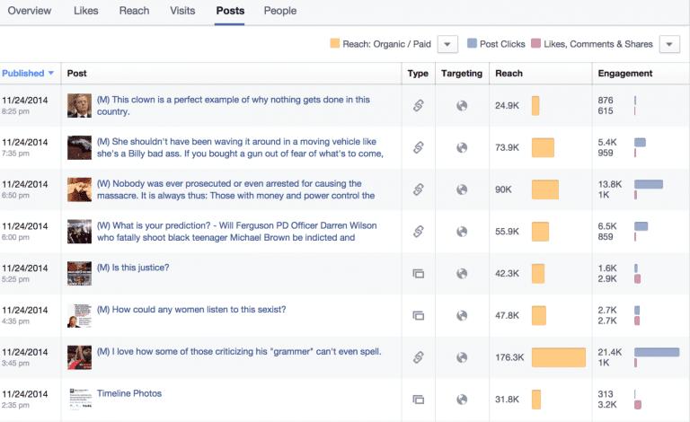Facebook Analytics Screenshot