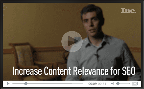 [VIDEO] Increase Content Relevance for SEO