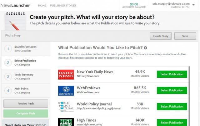 newslauncher pitch