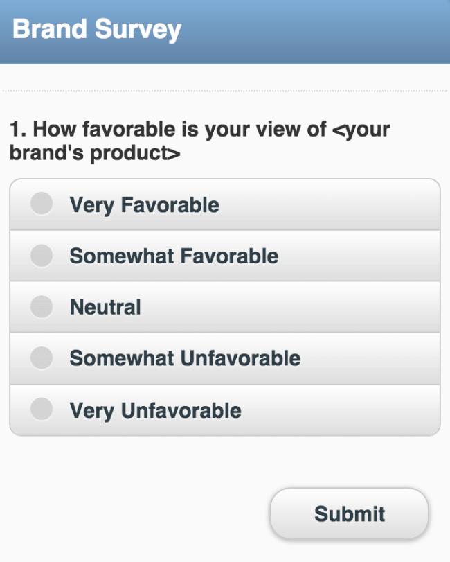 content survey question