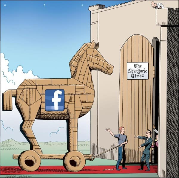 Facebook & Trojan Horse Comic