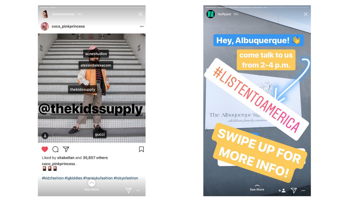 how to use swipe up in instagram