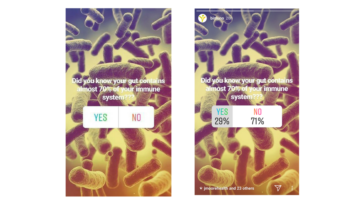 Perhaps you ran an Instagram poll? This data can be turned into a really cool, informative Instagram post to thank those who got involved and voted. Great!