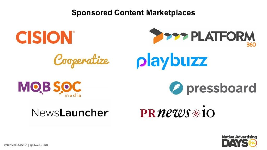 Sponsored Content Marketplaces