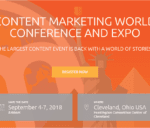 Content Marketing World 2018 – The Largest Content Event